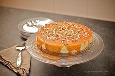 Norwegian Baked Cheesecake with Brunost-Pecan Caramel