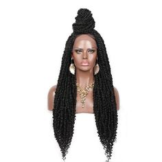 Twist Braid Hairstyles, Braided Hairstyles For Black Women, Twist Braids, Twists, Affordable Wigs, Front Braids, Natural Looking Wigs, Synthetic Lace Wigs, Waves Curls