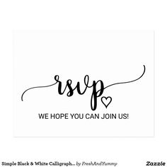 296 best rsvp cards images on pinterest in 2018 lyrics rsvp and simple black white calligraphy song request rsvp invitation postcard stopboris Gallery