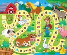 Lunarable Board Game Pet Mat for Food and Water, Rustic Farmhouse Agricultural Environment Animals Spring in Woods Nursery Design, Rectangle Non-Slip Rubber Mat for Dogs and Cats, Multicolor, Board Game Template, Printable Board Games, Farm Activities, Preschool Activities, Board Game Themes, Wood Nursery, Interactive Dog Toys, Gaming, Farm Theme