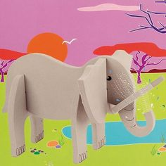 Играй и учи с APLI Kids 3D Пъзел-Слон. Подходящ подарък за деца над 4 години.