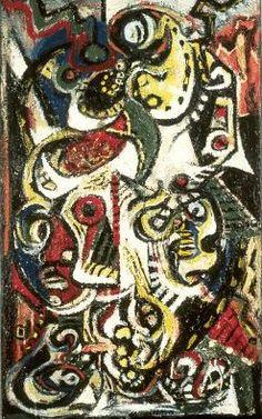 Jackson Pollock - Masqued Image