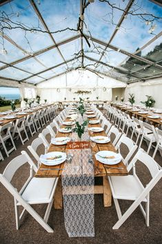 Clear roof marquee with long rustic trestle table dining and an awesome beach view! Clear Marquee, Marquee Hire, Marquee Wedding, Wedding Table, Wedding Ideas, Wedding Hall Decorations, Devon And Cornwall, Trestle Table, Exeter