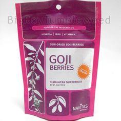ORGANIC Non GMO NAVITAS Naturals sun dried GOJI Berries 4 oz vitamins minerals #NavitasNaturals #BigBoyTumbleweed