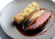 Duck breast with chicory and potato dauphinoise Josh Eggleton shares his duck breast recipe, which includes a supremely comforting potato dauphinoise and braised chicory. Cook this duck breast recipe on a cold winters day Duck Recipes, Potato Recipes, Pork Belly Recipes, Potatoes Dauphinoise, Duck Breast Recipe, Great British Chefs, Oven Dishes, Food Plating, Fine Dining