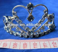 Crstal tiara comb1.  small order is welcome2.  different size is avaiable3. customer's design is welcome