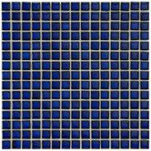 """Found it at Wayfair Supply - Morgan .625"""" x .625"""" Porcelain Mosaic Floor and Wall Tile in Cobalt"""