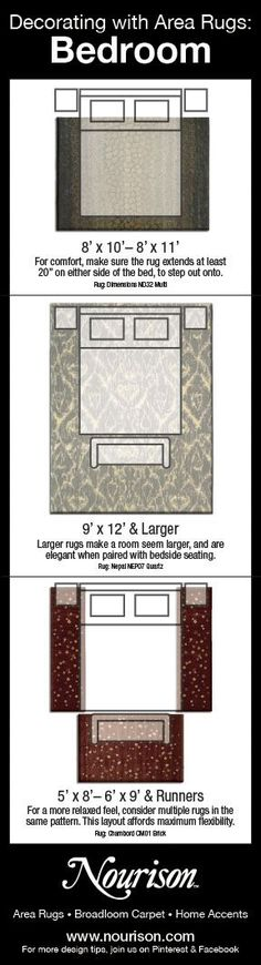 Bedroom Area Rugs Placement choose the right rug for your space | rug placement, holidays and room