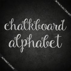 BUY 3 FOR 8 USD Chalkboard alphabet clipart digital chalk