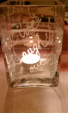 Etched glass using a dremel tool