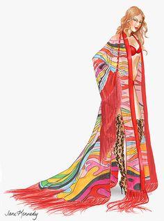 Joan Smalls Boho Psychedelic segment (Drawing by Jane Kennedy) Fashion Model Sketch, Fashion Sketches, Victoria Secret Angels, Victoria Secret Fashion Show, Vs Fashion Shows, Fashion Models, Jane Kennedy, Joan Smalls, Illustrators On Instagram