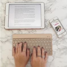 I love using my iPad to edit my blogposts on the go but I blooming hate the keyboard on the screen  I am so in love with this Bluetooth keyboard from @tablet2cases  it's so light and portable and pretty  check them out @coopercases and see what other cases they have for tablets!  photo creds @bri_not_cheddar