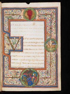 Genève, Bibliothèque de Genève, Ms. lat. 99, p. 1 – Amyris. Poem in honor of Sultan Sultans Mehmed II, by Gian Mario Filelfo (http://www.e-codices.unifr.ch/en/list/one/bge/lat0099)