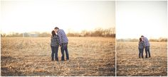 By Kara - Kara Evans - Kankakee Illinois Wedding Photographer - Kankakee Farm Session - Chebanse Illinois Farm Engagement