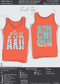 AXO tribal / state tank - alpha chi omega @Sam Taylor Allen - guess what im stealing from you?! :D THIS