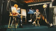 """Florence Welch and Vincent Haycock at Facebook Headquarters for their """"The Odyssey"""" Q&A"""