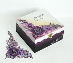 100  Hand Painted Personalized Wedding Card por JoliefleurDeco, $59.00