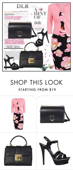 """DLRBOUTIQUE.COM"" by lila2510 ❤ liked on Polyvore featuring Jimmy Choo, Sonia Rykiel, Yves Saint Laurent, DLRLuxuryBoutique and dlrboutique"