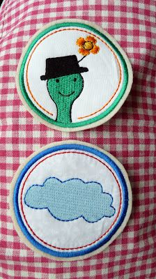 "Embroidery Design ""Above the clouds"" from www.mikronaut.de stitched by Cornelia aus der Zwergenwelt."