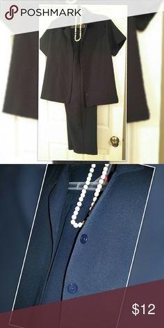 Pant suit Vickie Waynes 16P Excellent Condition navy blue Vickie Wayne's 16 Petit Vicki Waynes Pants