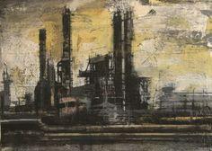 Pedro Rodríguez Garrido.Industrial landscape.44x32 cms