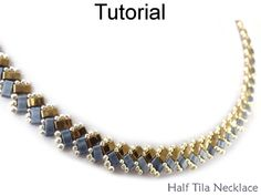 2 Hole Miyuki Half Tila Beadwoven Beaded Round Neck Necklace Beading Pattern Tutorial | Simple Bead Patterns