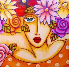 Risultati immagini per baraka cuadros art Art Pop, Art Drawings For Kids, Cute Drawings, Painted Flower Pots, Whimsical Art, Fabric Painting, Face Art, Portrait Art, Art Lessons