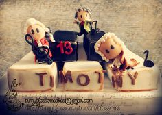 Artistic cakes made with love, this Chibi Music cake shows Chibi Bach, Chibi Mozart and Chibi Beethoven.