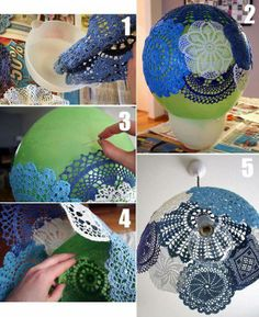 How To Make a Hanging Lace Lamp