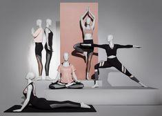 Etalagapoppen Vrouwen Abstract Sport Yoga