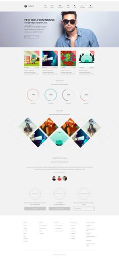 Cuber - Modern Responsive Minimal WordPress Theme by Zizaza - design ocean , via Behance