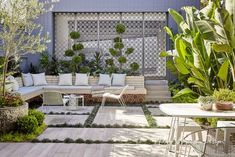 Adam Robinson Design Landscape Design Project Balmain – the metal screens hide the parked cars Tropical Garden Design, Backyard Garden Design, Backyard Landscaping, Backyard Patio, Backyard Ideas, Balmain, Garden Features, Private Garden, Small Gardens