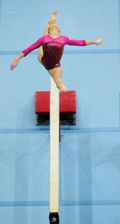 Aliya Mustafina Aliya Mustafina of Russia competes on the Beam during the Apparatus Final of the 42nd Artistic Gymnastics World Championship...
