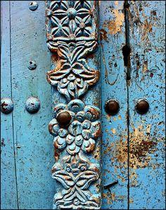 """Stone Town blue door""...Stone Town, Zanzibar, Tanzania...great texture & color!!"