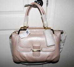Coach Madison Pinnacle PEBBLED Leather Lilly Pearl Satchel Shoulder Handbag   eBay