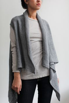 It still gets chilly enough for cashmere in NYC, especially when you're from Miami. Could use this on these dewey mornings: souchi cashmere teresa vest