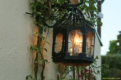Wrought Iron exterior light on Spanish Home in La Canada