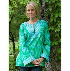 Sis Boom Patricia Tunic with Scientific Seamstress Pattern and Instructions, PDF Sewing Pattern E-Book