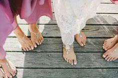 Bare foot wedding