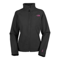 Women North Face Apex Bionic Jacket Black and pink
