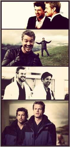 McDreamy & McSteamy BFFs...Would it be bad to have this in my bedroom!?