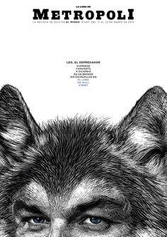 EL LOBO DE WALL STREET (The Wolf of Wall Street). Una película de Martin Scorsese, protagonizada por Leonardo DiCaprio. Ilustración de Ricardo Martínez.