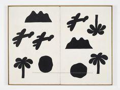 "freakyfauna: "" Vietnam Diptych, 1969. Painting by Jeff Keen. Found here. """