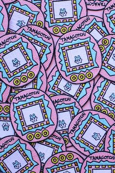 Tamagotchi Iron On Patch Embroidery Sewing DIY by TeesByAlex