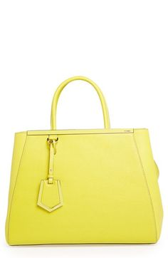 Fendi 2jours, Mellow Yellow, Neon Yellow, Best Bags, Luxury Bags, Luggage Bags, Purses And Handbags, Fashion Bags, Shoe Bag