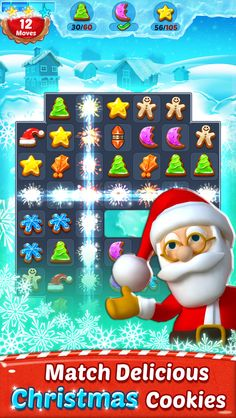 App Shopper: Christmas Cookie - Match 3 Game (Games) Match 3 Games, I Love Games, Fun Games, Fun Christmas Games, Christmas Countdown, Grid Game, Santa's Nice List, Game Effect, New Year Art