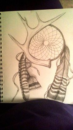 Antler dream catcher tattoo idea