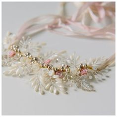 Gardenia Headpiece e colar