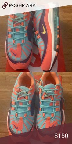 1802a57d8e NIKE AIR MAX 98 SIZE 10 IN WOMENS SIZE 8 IN MENS THEY RUN SMALL SO THEY ARE  ROUGHLY A SIZE 9.5 IN WOMENS Nike Shoes Sneakers