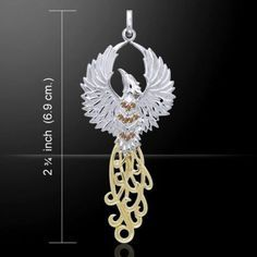 PHOENIX Rising Pendant - Sterling Silver FIRE Sun BIRD Rebirth - Renewal - Transformation - Regeneration - Strength - Hope within Despair So beautiful with the gold adorned tail and multiple amet Silver Jewelry Box, Stone Jewelry, Sterling Silver Necklaces, Beaded Jewelry, Unique Jewelry, Phoenix Jewelry, Phoenix Rising, Gold Accents, 18k Gold